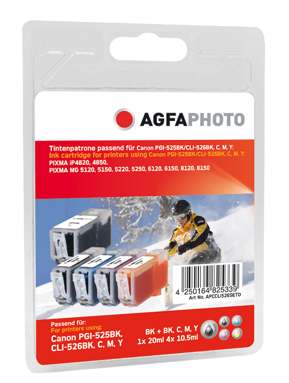 AgfaPhoto APCCLI526SETD Black, Cyan, Magenta, Yellow ink cartridge