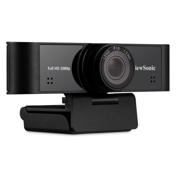 Viewsonic 1080p ultra-wide USB camera with built-in microphones compatible with Windows and Mac,compatible for IFP5550 / IFP6550 / IFP7550 / IFP6560 / IFP7560 / CDE7061T. webcam 1920 x 1080 pixels Black
