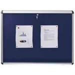 Nobo Internal Display Case Blue Felt A0