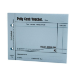 Guildhall Petty Cash Voucher Pad Blue PK5