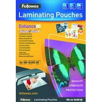 Fellowes SuperQuick A4 Glossy 80 Micron Laminating Pouch