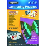 Fellowes SuperQuick A4 Glossy 80 Micron Laminating Pouch laminator pouch