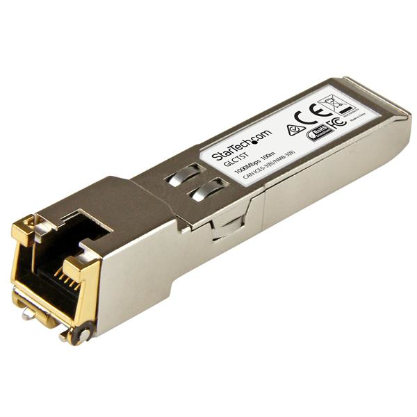 StarTech.com Gigabit RJ45 Copper SFP Transceiver Module - Cisco GLC-T Compatible