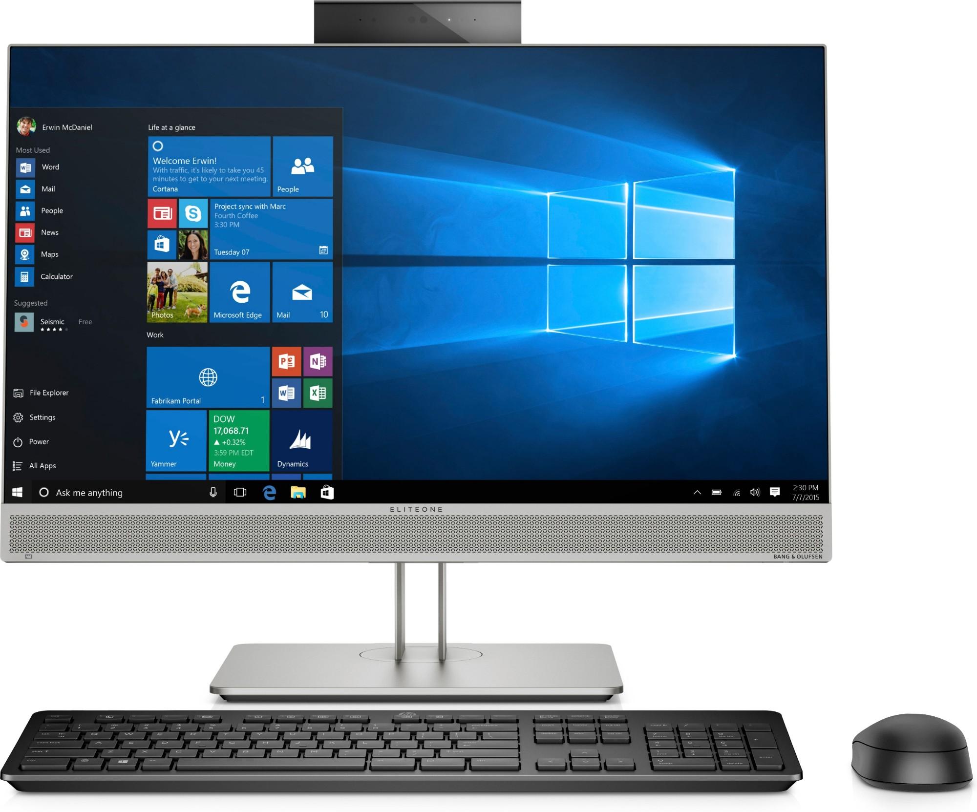 "HP EliteOne 800 G5 60.5 cm (23.8"") 1920 x 1080 pixels 9th gen Intel® Core™ i7 32 GB DDR4-SDRAM 1000 GB SSD Silver All-in-One PC"