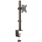 StarTech.com Single Monitor Desk Mount - Single Screen Heavy Duty Pole Mount for up to 34inch VESA Compatible Displays - Ergonomic Height Adjustable Monitor Arm Mount - Desk Clamp/Grommet