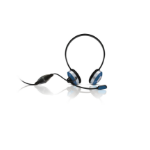 Sweex Neckband Headset Acai Berry Blue