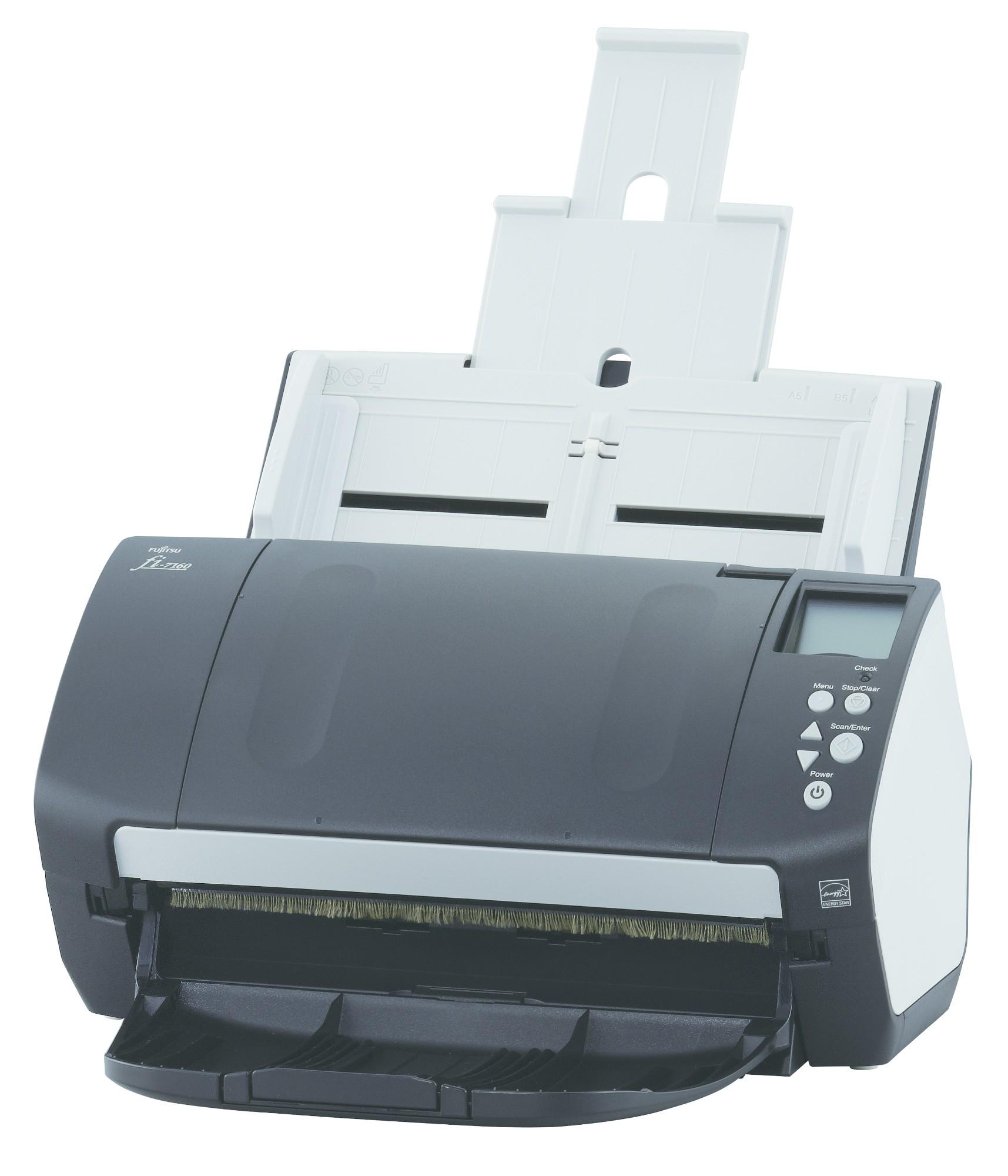 Fujitsu fi-7160 600 x 600 DPI Escáner con alimentador automático de documentos (ADF) Negro, Blanco A4