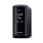 CyberPower VP700EILCD uninterruptible power supply (UPS) Line-Interactive 0.7 kVA 390 W 6 AC outlet(s)