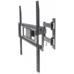 "Manhattan TV & Monitor Mount, Wall, Full Motion, 1 screen, Screen Sizes: 37-65"", Black, VESA 100x100 to 600x400mm, Max 35kg, LFD, Tilt & Swivel with 3 Pivots, Lifetime Warranty"
