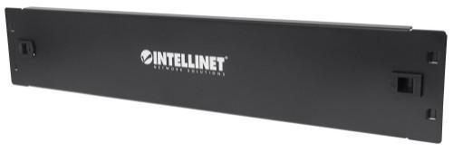 """Intellinet 19"""" Blank Panel, 2U Cover for Unused Space in 19"""" Cabinet, Metal, Black"""