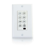 C2G TruLink A/V remote control Wired White press buttons