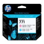 HP 771 Light Magenta/Light Cyan Designjet Printhead Inyección de tinta cabeza de impresora