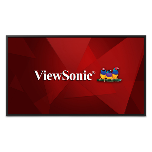 "Viewsonic CDE5520 signage display Digital signage flat panel 139.7 cm (55"") IPS 4K Ultra HD Black Built-in processor"