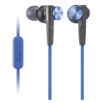 Sony MDR-XB50AP In-ear Binaural Wired Black,Blue mobile headset