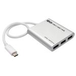 Tripp Lite 4-Port USB 3.1 Gen 1 Portable Hub - USB Type-C (USB-C) to (x4) USB-A, Aluminum