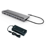 i-tec Metal USB-C Low Profile 4K Triple Display Docking Station with Power Delivery 85 W + Universal Charger 112 W