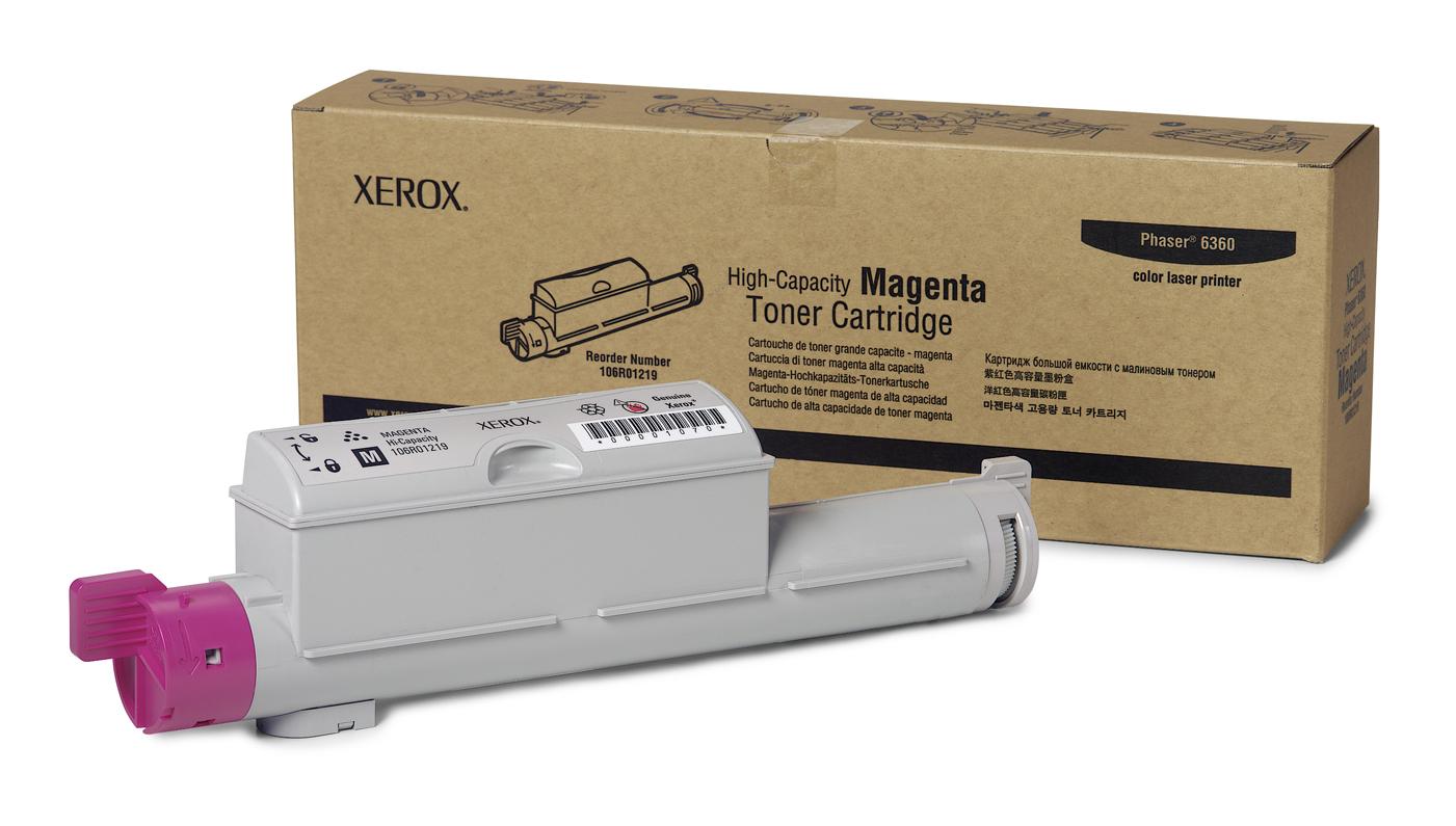 Xerox Cartucho De Tóner Magenta De Alta Capacidad, Phaser 6360
