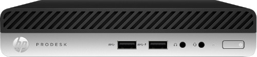HP ProDesk 400 G4 3.10 GHz 8th gen Intel® Core™ i3 i3-8100T Black,Silver Mini PC
