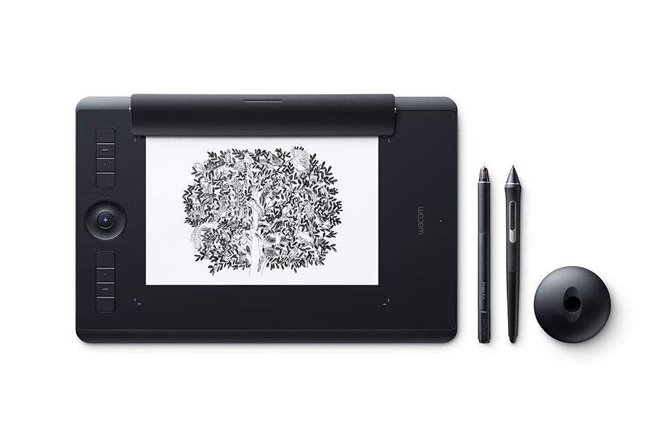 Wacom Intuos Pro Paper graphic tablet Black 5080 lpi 224 x 148 mm USB/Bluetooth