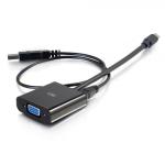 C2G 8in Mini DisplayPort[TM] Male to VGA + Audio Female Active Adapter Converter - Black