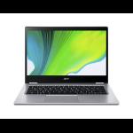 "Acer Spin 3 SP314-21-R4H3 Hybrid (2-in-1) Silver 35.6 cm (14"") 1920 x 1080 pixels Touchscreen AMD Ryzen 3 8 GB DDR4-SDRAM 256 GB SSD Wi-Fi 5 (802.11ac) Windows 10 Home"