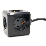 Microconnect GRUCUBE2-BLACK power extension 1.5 m 4 AC outlet(s) Indoor
