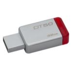 Kingston Technology DataTraveler 50 32GB USB flash drive USB Typ-A 3.0 (3.1 Gen 1) Rot, Silber