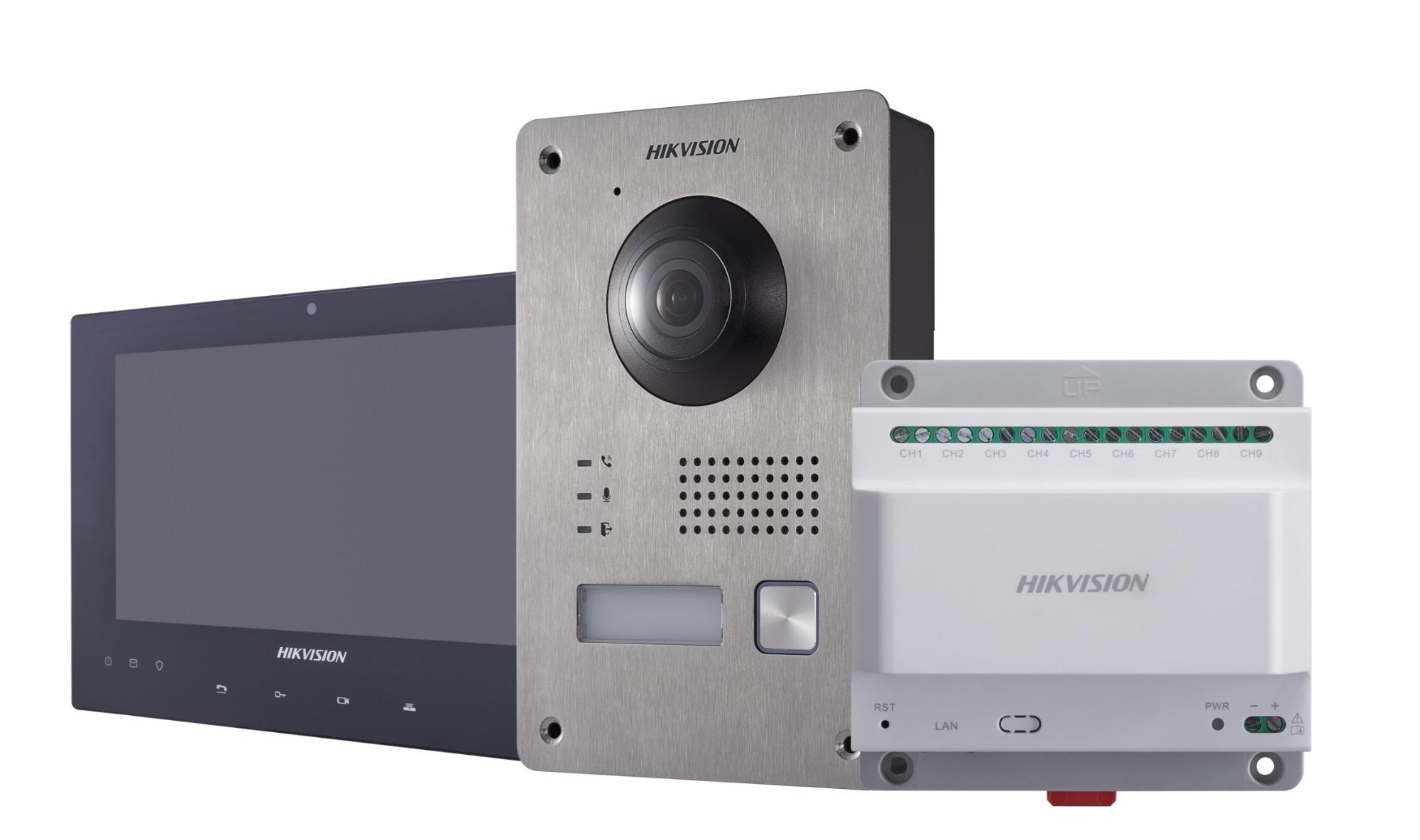 "Hikvision Digital Technology DS-KIS701 video intercom system 17.8 cm (7"") Black,Metallic,White 2 MP"