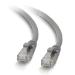 C2G Cable de conexión de red de 0,3 m Cat5e sin blindaje y con funda (UTP), color gris