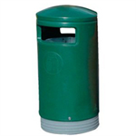 Green Outdoor Hooded Top Bin 75 Litre 321771