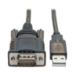 "Tripp Lite U209-005-COM serial cable Black 59.8"" (1.52 m) RS232 USB"