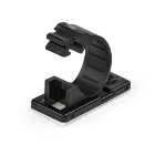 StarTech.com 100 Adhesive Cable Management Clips Black - Network/Ethernet/Office Desk/Computer Cord Organizer - Sticky Cable/Wire Holders - Nylon Self Adhesive Clamp UL/94V-2 Fire Rated