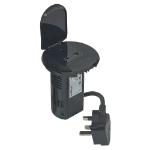 C2G 80862 Type G (BS 1363) Black socket-outlet