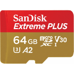 Sandisk 64GB Extreme Plus microSDXC memory card Class 10