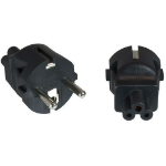 Microconnect PECEEC5AD Type F (Schuko) Black power plug adapter