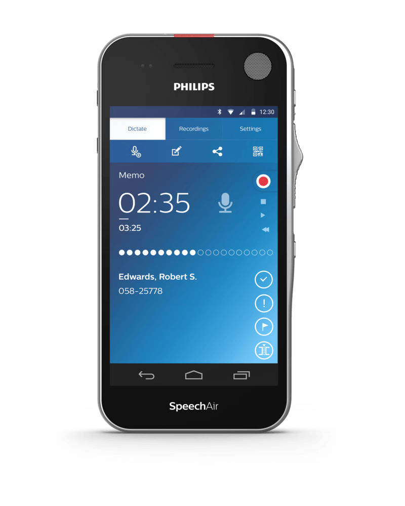 Philips SpeechAir Smart Voice dictaphone Internal memory Black,Chrome