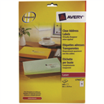 Avery L7562-25 addressing label Transparent
