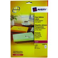 Avery L7562-25 addressing label Transparent