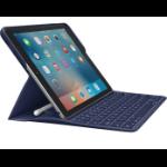 Logitech 920-008123 mobile device keyboard Blue ABC French