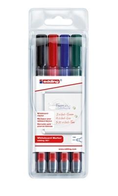 Edding 361 marker 4 pc(s) Bullet tip Black, Blue, Green, Red