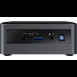 Intel NUC BXNUC10I7FNH PC/workstation barebone i7-10710U 1.1 GHz UCFF Black BGA 1528