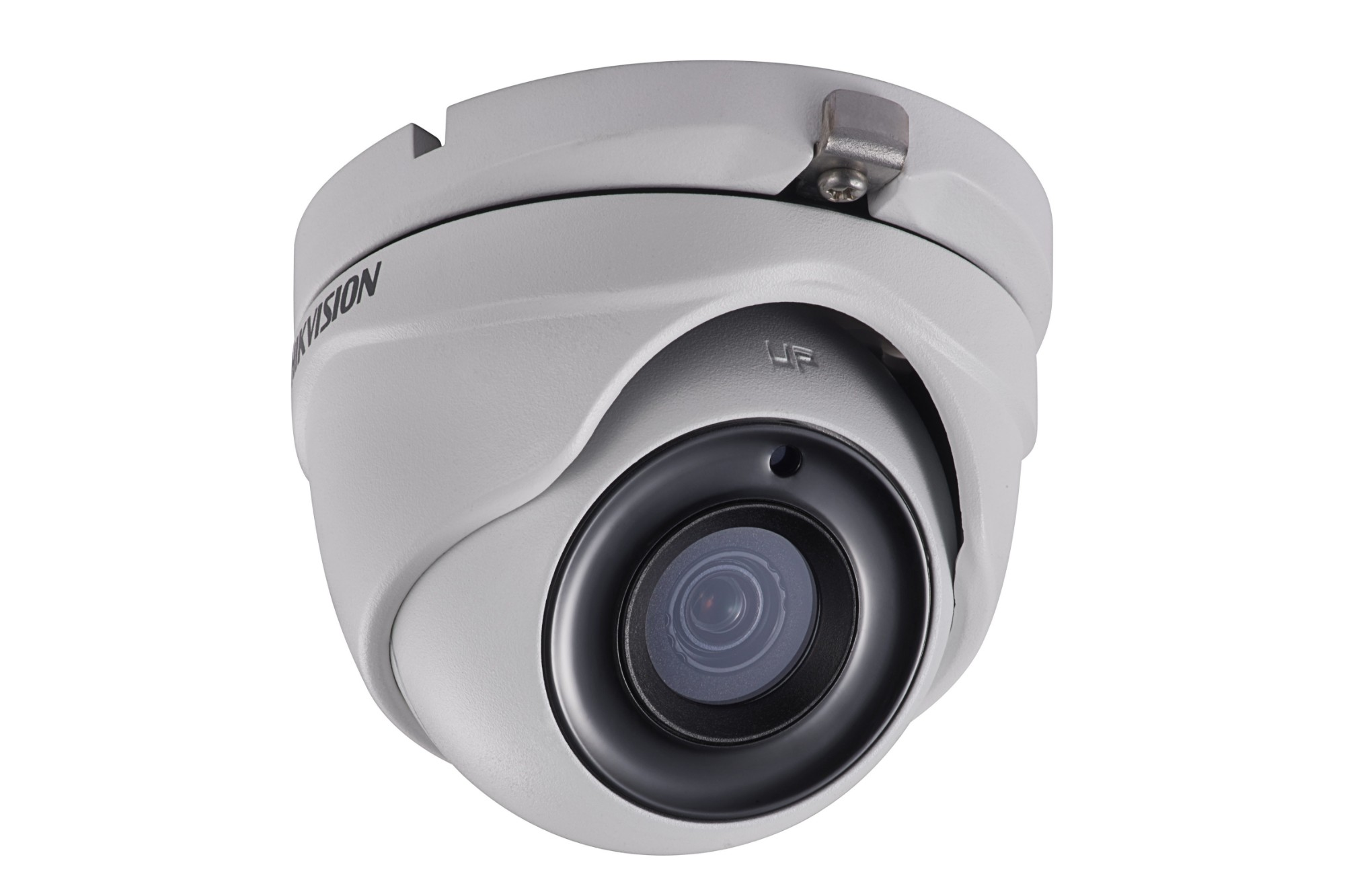 Hikvision 5MP 2.8mm fixed lens turret Analogue Day & Night Eyeball POC camera with IR 20m IP67– White