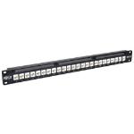 Tripp Lite N254-024-6A 24-Port 1U Rack-Mount Cat6a Feedthrough Patch Panel, RJ45 Ethernet