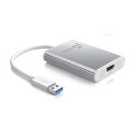 j5 create JUA354 cable interface/gender adapter USB 3.0 Type-A HDMI Silver