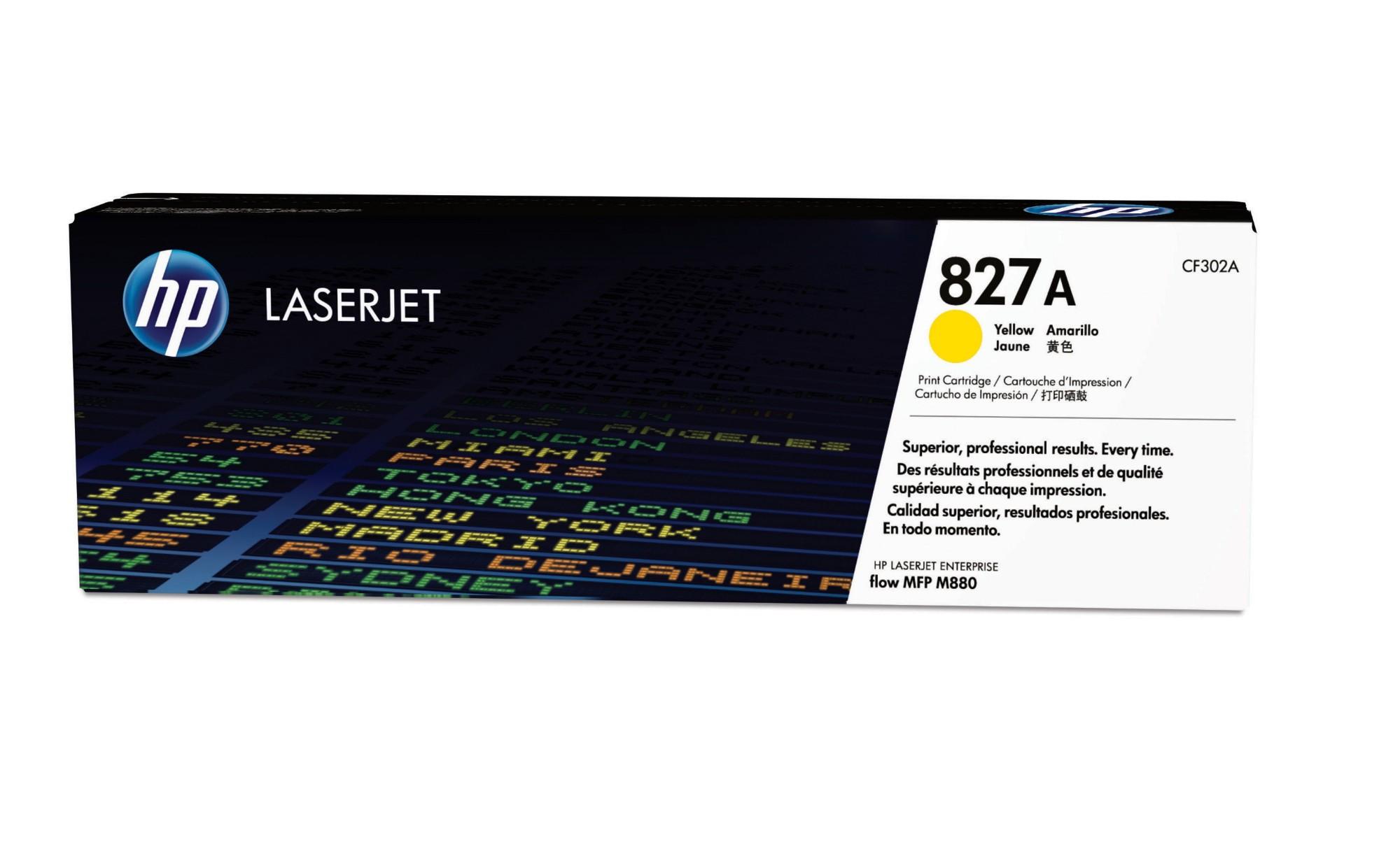 HP 827A Original Amarillo 1 pieza(s)