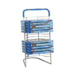 Atlantic BluRay Nestable 16 optical disc stand Metal Blue,Silver