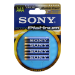 Sony Stamina Platinum Alkaline batteries - size AAA - Blister of 4,