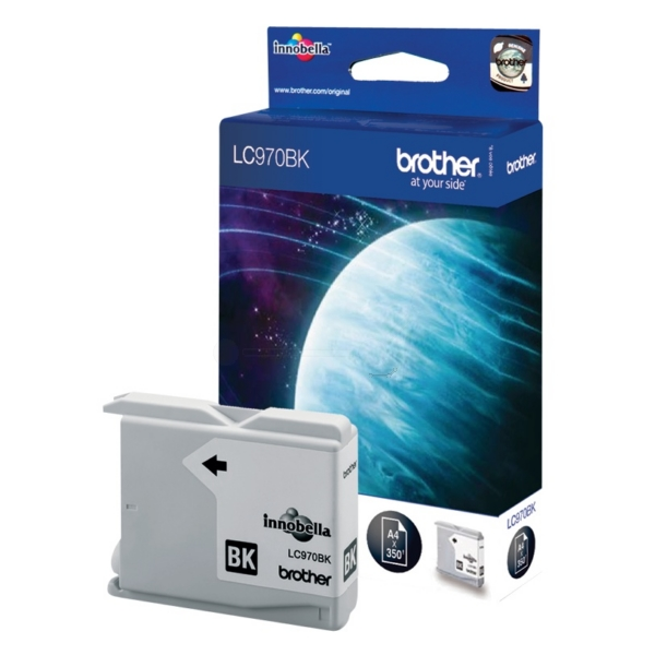 Brother LC-970BK Ink cartridge black, 350 pages, 9ml