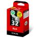 Lexmark 80D2956 (32HC) Printhead black, 200 pages, 16ml, Pack qty 2