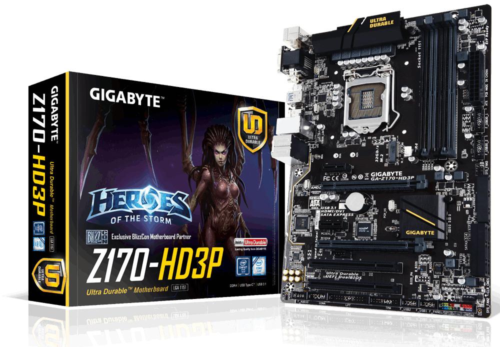 Gigabyte GA-Z170-HD3P (rev. 1.0) Intel® Z170 Express Chipset LGA1151 BTX